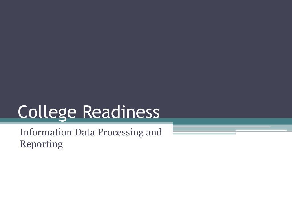 college readiness l.