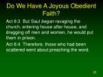 do we have a joyous obedient faith25