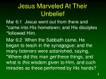 jesus marveled at their unbelief