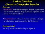 anxiety disorders obsessive compulsive disorder