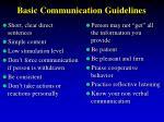 basic communication guidelines26