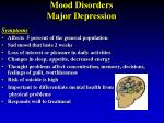 mood disorders major depression