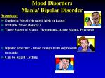 mood disorders mania bipolar disorder