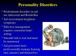 personality disorders15