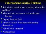 understanding suicidal thinking