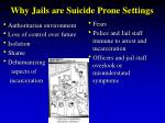 why jails are suicide prone settings