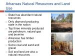 arkansas natural resources and land use