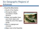 six geographic regions of arkansas10