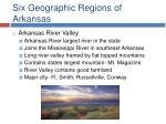 six geographic regions of arkansas11