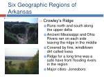 six geographic regions of arkansas14