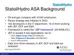 statoilhydro asa background