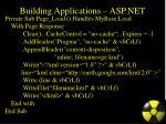 building applications asp net
