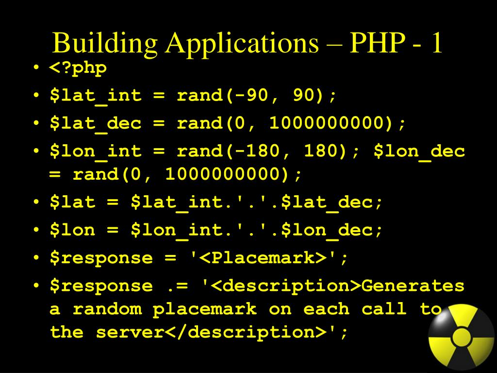 Building Applications – PHP - 1