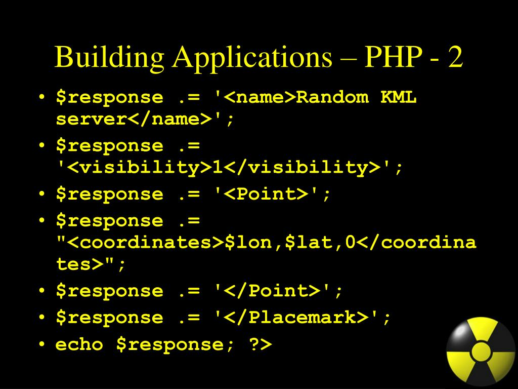 Building Applications – PHP - 2