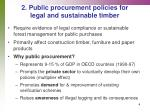 2 public procurement policies for legal and sustainable timber