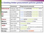 3 existing timber procurement policies globally