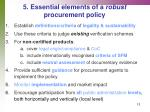 5 essential elements of a robust procurement policy