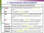 7 trend towards robust policies