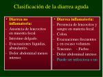 clasificaci n de la diarrea aguda