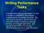 writing performance tasks
