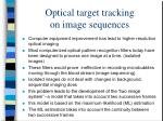 optical target tracking on image sequences