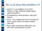 we re all about microbubbles 5