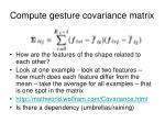 compute gesture covariance matrix