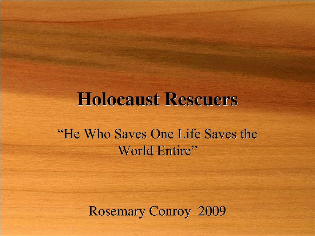 holocaust rescuers l.