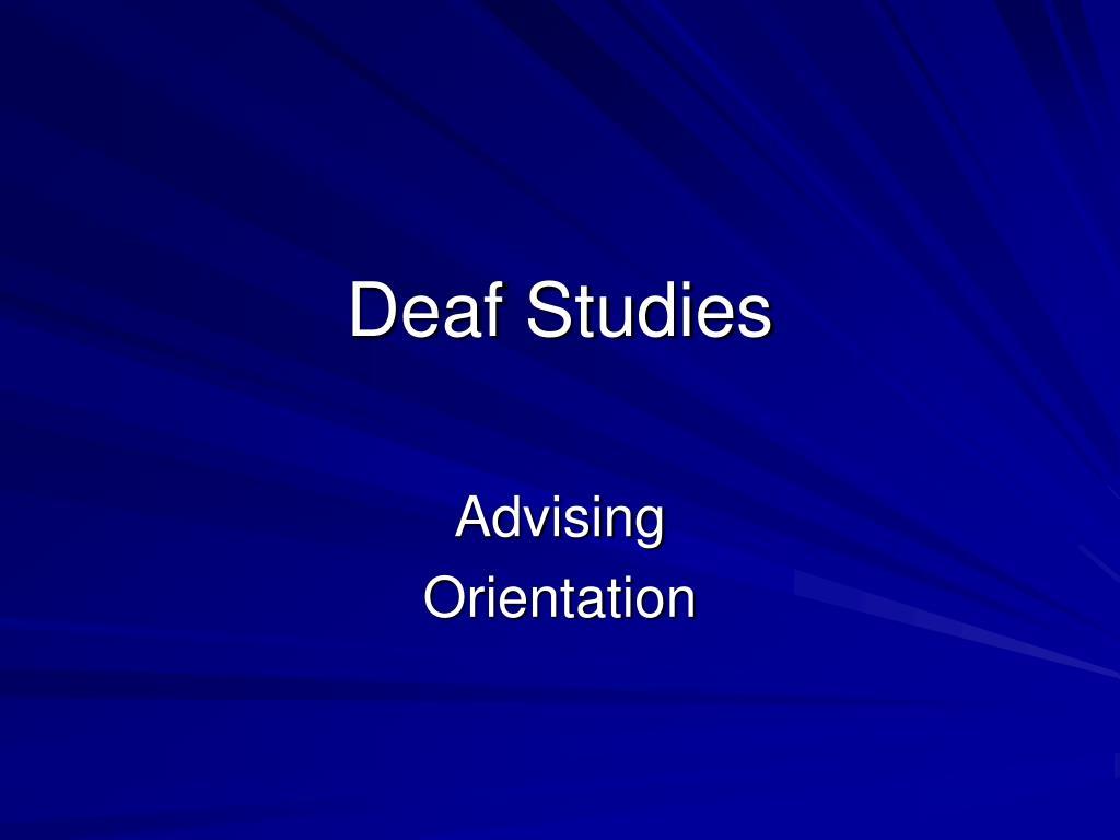deaf studies l.