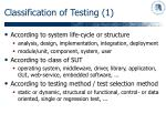 classification of testing 1