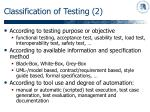 classification of testing 2
