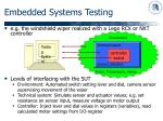 embedded systems testing