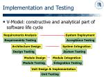 implementation and testing14