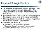 improved triangle problem