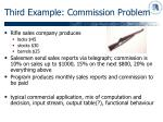 third example commission problem