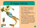 le lingue italiche