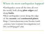 where do most earthquakes happen
