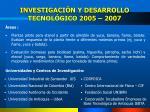 investigaci n y desarrollo tecnol gico 2005 2007