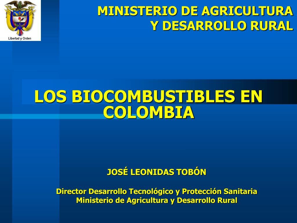 los biocombustibles en colombia l.