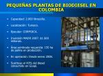 peque as plantas de biodiesel en colombia