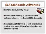 ela standards advances