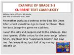 example of grade 2 3 current text complexity