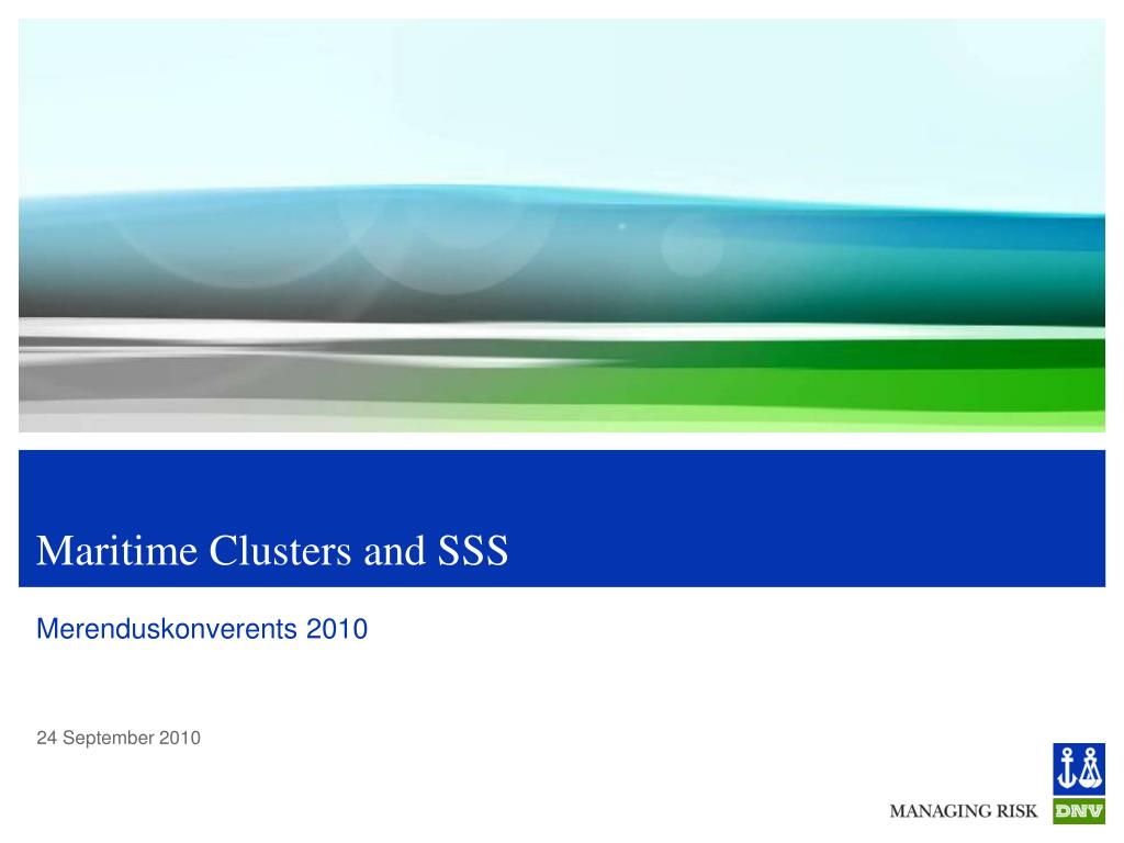 maritime clusters and sss l.