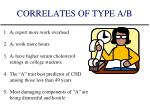 correlates of type a b