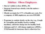 sidebar obese employees