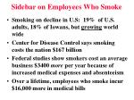 sidebar on employees who smoke