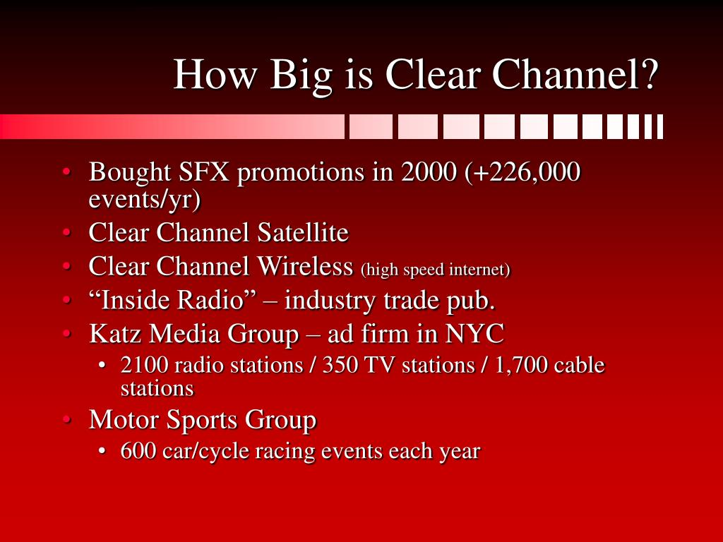 How Big is Clear Channel?