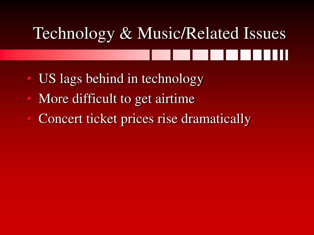 Technology & Music/Related Issues