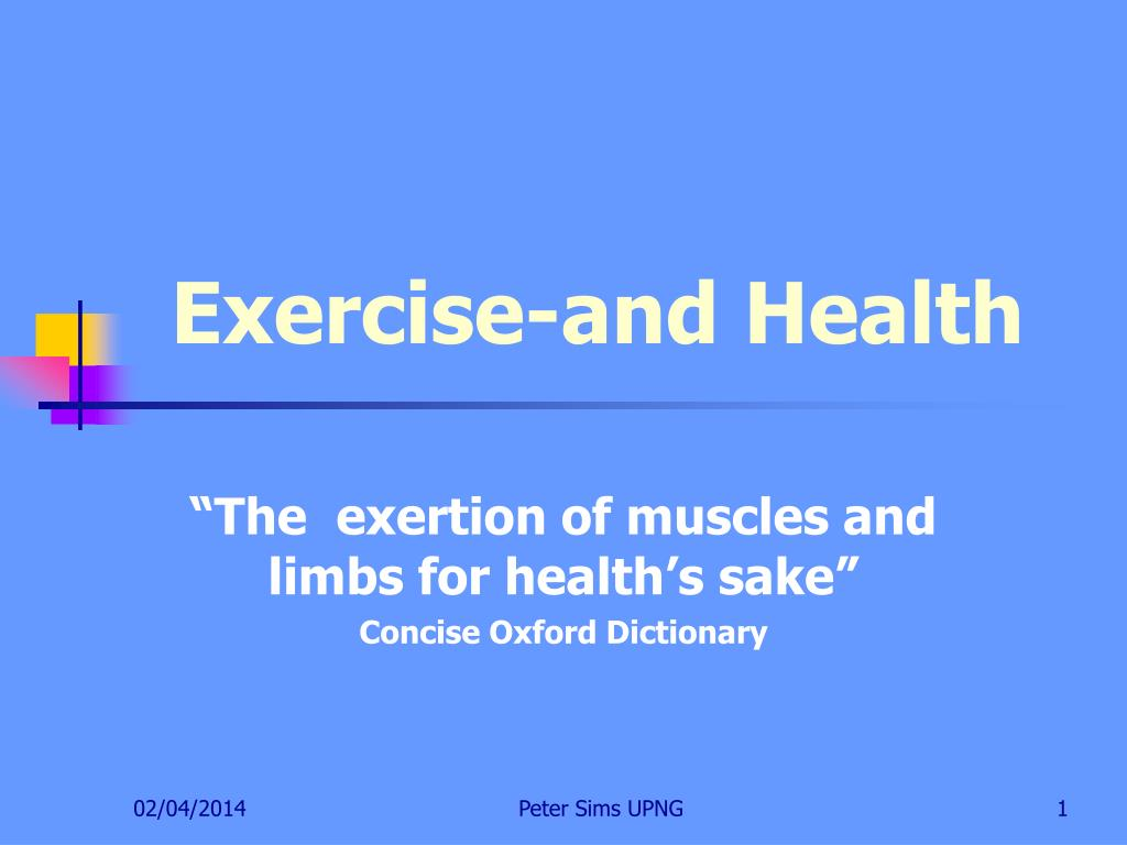 exercise and health l.