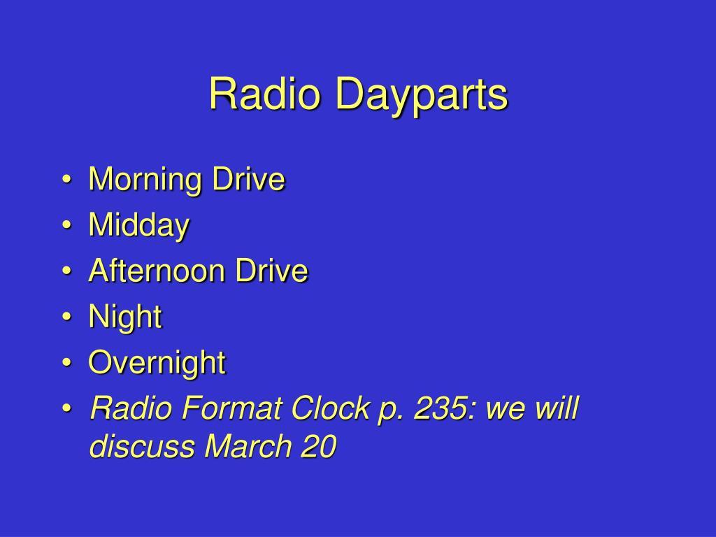 Radio Dayparts